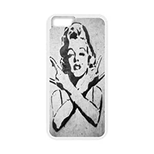Marilyn Monroe Graffiti Rocks Gesture For Iphone 5C Phone Case Cover Protective Cute For Girls, For Iphone 5C Phone Case Cover Women [White]