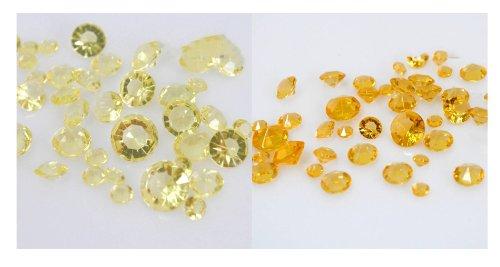 4.5mm Assortiment Or clair//Or fonc/é Lot de 4000 confettis diamants pour d/écoration de table