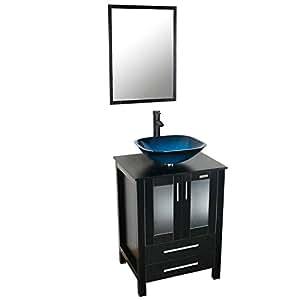 Eclife 24 39 39 modern bathroom vanity and sink combo stand - Bathroom vanity and mirror combo ...