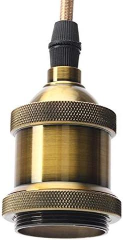 Pendelleuchte Halter 1.5 Meter Vintage-Draht Kupfer E26 / E27 LED-Glühlampe Sockel mit Saugnapf, Geeignet