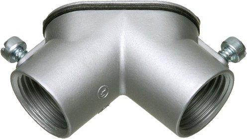 90 Degree Rigid Elbow - Arlington HL5000-1 Combination Threaded Rigid and Set-Screw EMT 90 Degree Pulling Elbow, 1/2 Inch