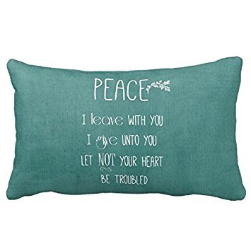 Romantichouse Design Peace Bible Verse Pillowcases For Your Sofa Or Bedroom Decoration