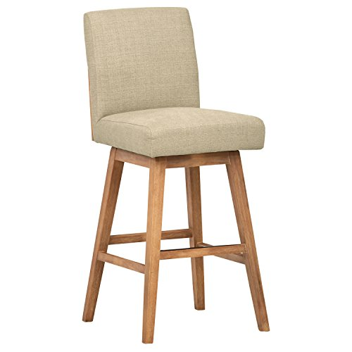 Stone & Beam Sophia Modern Swivel Bar Stool, 43.3