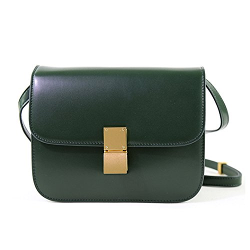 bag Macton Genuine MC Messenger Green Bag Crossbody Women Leather 5081 UqqPv5
