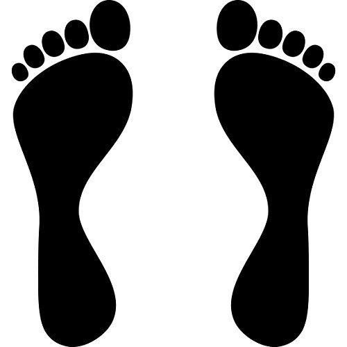 2 Paar 25cm Schwarz 4 Füße Fußabdruck Fußspur Aufkleber Tattoo Die Cut Auto Heck Deko Folie