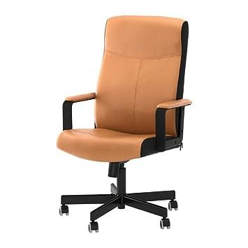 Ikea Malkolm - Silla de Oficina giratoria, Color marrón: Amazon.es ...