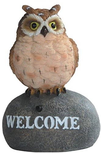 """StealStreet ss-g-54285, 5.5 """"marrón búho Welcome Sign Sensor de"""
