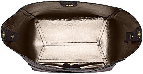 Chicca Borse 8820, Borsa a Spalla Donna, 36x32x16 cm (W x H x L) Marrone (Cuoiotmoro)