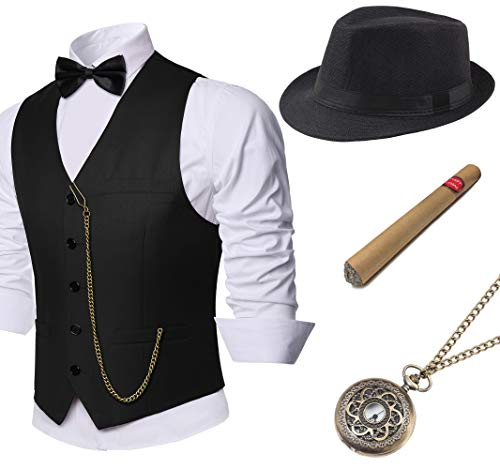 Costumes For The Great Gatsby - BABEYOND 1920s Mens Gatsby Gangster Vest