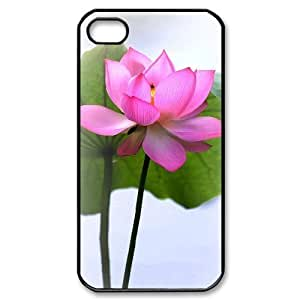 DIY Cover Case with Hard Shell Protection for Iphone 4,4S case with Beautiful flowers lxa#876810