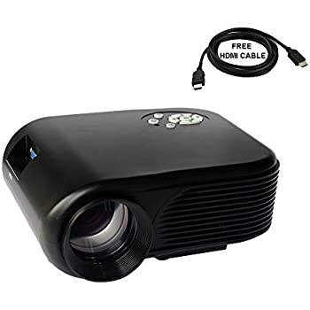 2017 Projector (Warranty Included), XINDA LCD LED Mini Multi-media Portable Video Projector Game Home Cinema Theater Support HD 1080P HDMI USB SD AV-0036B