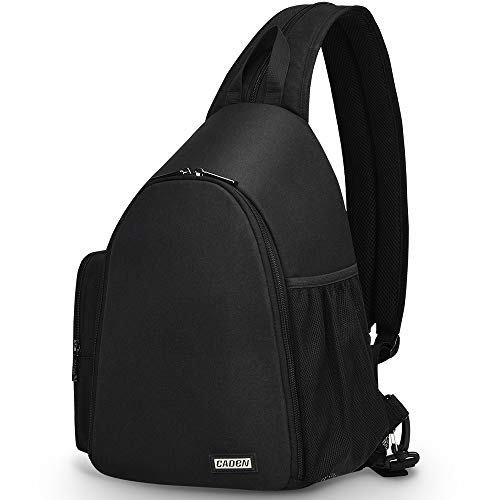 CADeN Camera Bag Sling Backpack, Camera Case Backpack Waterproof with Tripod Holder for DSLR/SLR Mirrorless Cameras (Canon Nikon Sony Pentax) Black