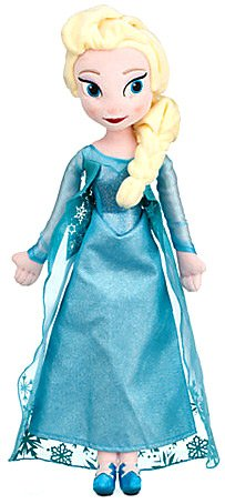 Disney Channel Cartoon Characters Costumes (Disney Elsa Plush Doll, Frozen, Medium, 20
