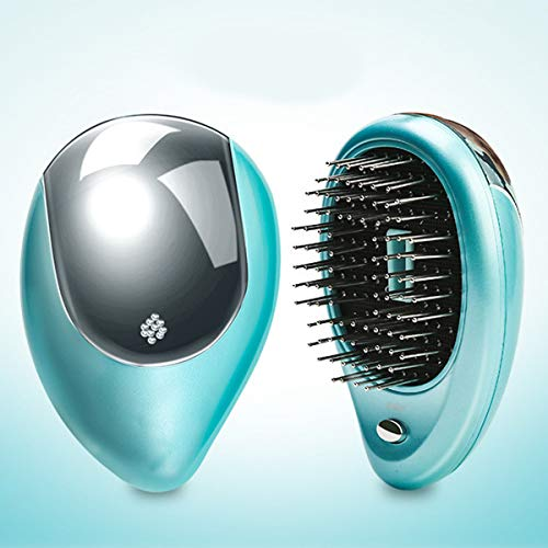 Health & Beauty - Hair Styling Tools - Portable Electric Ionic Hairbrush - (Color: Green) from Isali Health & Beauty