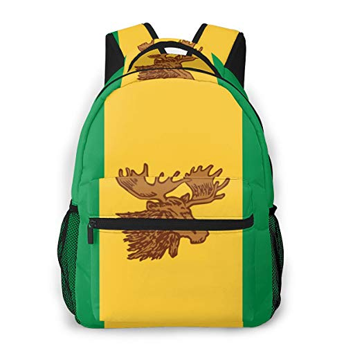 Backpack Moose Jaw Flags Fashion Classic Bookbag for Men Women