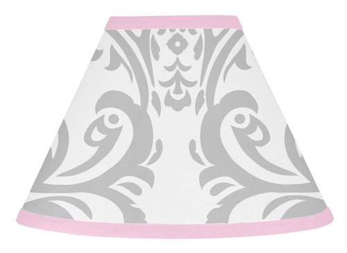 (Sweet Jojo Designs Pink, Gray and White Elizabeth Lamp Shade)