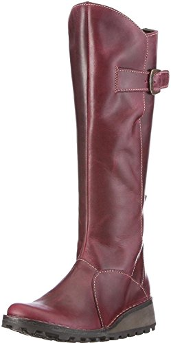 Fly london Mol 2 Purple Leather Womens Knee Hi Boots xCKesHxdp
