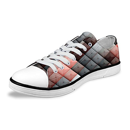Low Fashion Stripe Flat Multi Stylish Print Sneaker FOR Unisex Lace B5 U up DESIGNS Top Wave Shoes Lightweight wHqB7