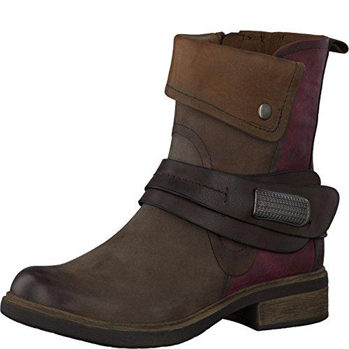 Tamaris 25324 - botas de cuero mujer Marrón (Braun)