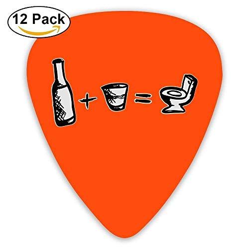 PKTCFOUR Guitar Picks Great Gift For Guitar Loverist Auditive Guitar Plectrums,Impression Beer Liquor,12 Pack,0.46Mm/0.73Mm/0.96Mm ()
