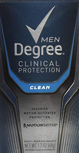 Degree Men Clean Clinical Antiperspirant Deodorant 1.7 oz (Degree Clinical Protection Men)