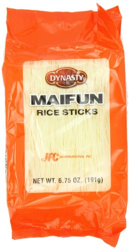 Dynasty Maifun Rice Stick, 6.75-Ounce Bags (Pack of 12)
