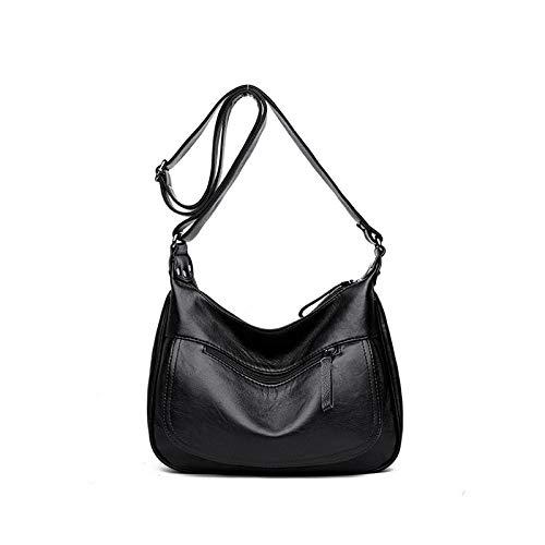 Handbag Da Ladies Borsetta Nero Borsa Borse Casual Pu Grande Donna Limotai RFSdxR