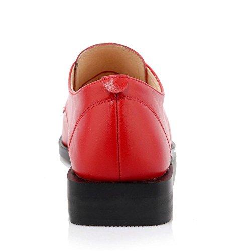 5 Rosso Rivetto piede Nero Dito RED 5 UK Tacco appuntito del Scarpe Pelle 38 NVXIE Casuale appartamenti Donna EUR EUR37UK455 singolo Lavoro w7qfFAccU
