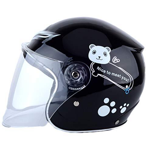 HAOHAOWU Casco de Ciclismo, Coche eléctrico Casco ciclomotor Esquí de Seguridad para la Nieve Casco Casco Hombres y Mujeres...