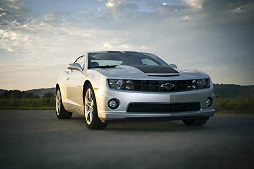 LAMINATED 35x24 Poster: Auto Chevrolet Camaro Road Sports Car Automotive Speed Vehicle Landscape Motorsport Clouds Spotlight Sky (Camaro Poster)