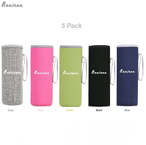 Neoprene Sleeve for Standard Mouth Hydro Flask/Coffee Flask. Snug Fit Bottle with 2.6 to 3.0 Diameter. Build-in Carrying Strap. Perfect for Protection, Sweat Absorption, Insulation.