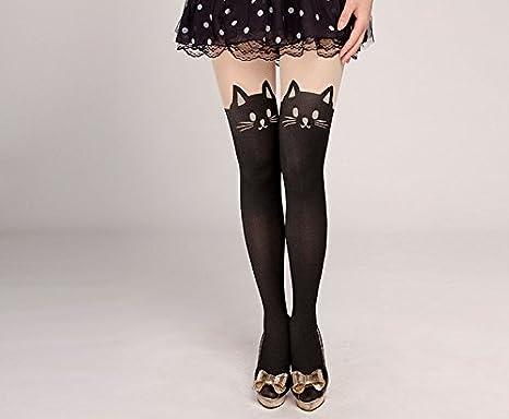 721eb7236ff Westeng 1pcs Femme Bas Collants en Velours Ultra-mince Leggings Collants  Noir Motif de chat Bas de chaussettes pour Femme Fille  Amazon.fr   Vêtements et ...