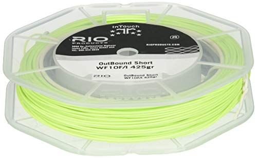 RIO Products Fly Line Intouch Outbound Short Wf5F/I Gray/Ivory/Green, Gray-Ivory-Green