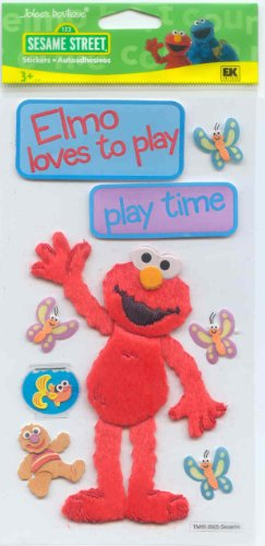 Jolee's Boutique Large 3-d Stickers Sesame Street Playtime Elmo Theme $5.99 Retail