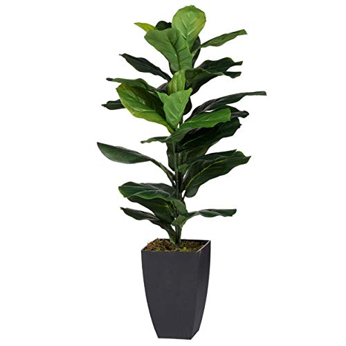 A&B Home Artificial Potted Fiddle-Leaf Fig Plant Green