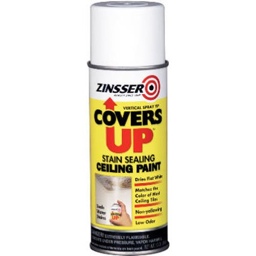 - Zinnser 03688 Covers Up Stain Sealing Ceiling Paint, White