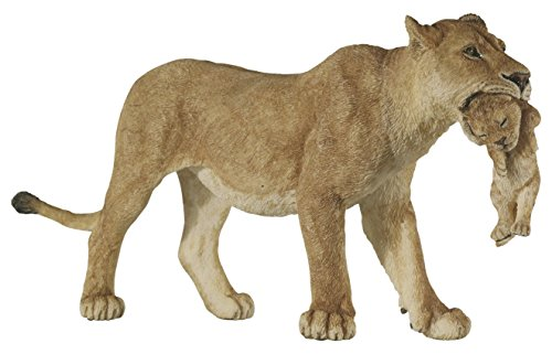 Papo Wild Animal Kingdom Figure, Lioness with Cub - Lion Cub Figurine