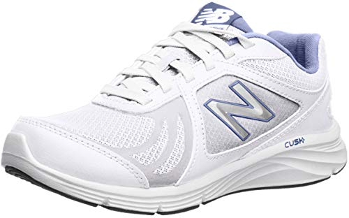 New Balance Women's WW496V3 Walking Shoe-W CUSH + Walking Shoe, White/Blue, 8 D US