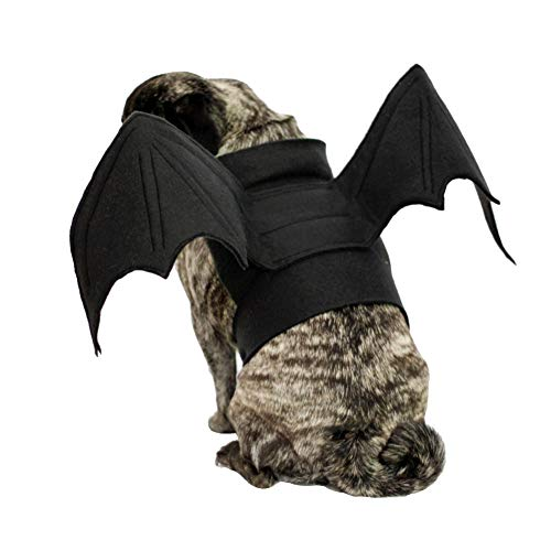 Cat Costume Halloween Pet Bat Wings Cat Dog -