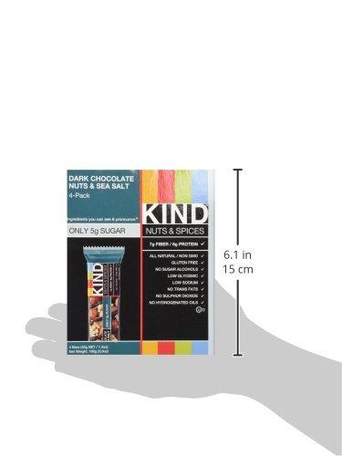 KIND Bars, Dark Chocolate Nuts & Sea Salt, Gluten Free, Low Sugar, 1.4oz, 48 Count by KIND (Image #9)