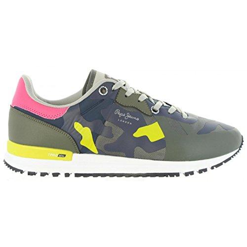 Chaussures de Sport Pour Homme Pepe Jeans PMS30413 Tinker 765 Khaki