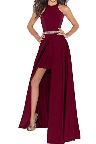 Festlichkleider Abendkleider JugendweiheKleider mia La Chiffon Braut Lang Neckholder Weinrot Elegant Partykleider Wassermelon zFzxqwZ1C
