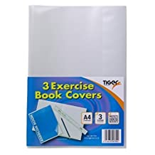 Pack of 10 A4 Exercise Book Covers Clear Plastic Sleeve School Note Book