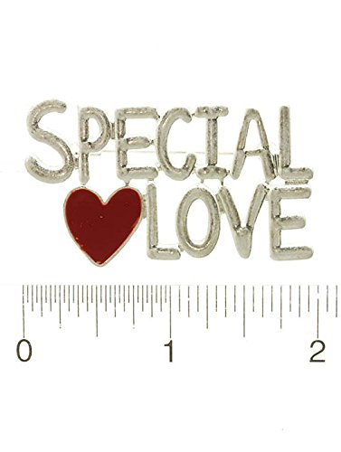 RI001 SPECIAL LOVE MATTE FINISH METAL PIN AND BROOCH