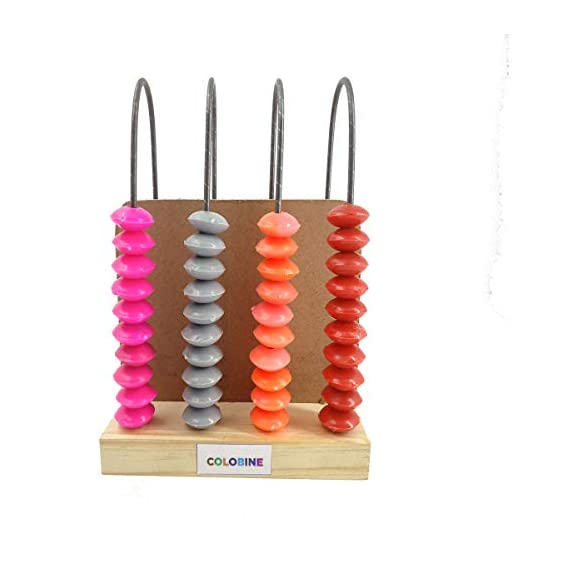 COLOBINE Abacus Counting 40 Beads, Early Maths Learning and Educational Toys for Kids, Pre-Schooler, for Kids Age 4 Years and Above