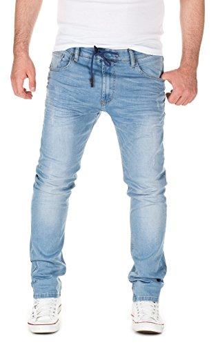 WOTEGA Herren Jeans Tim - Skinny Fit Jeans - Bund mit Gummizug From WOTEGA 2045684a93