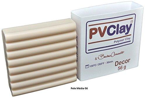 Cermica Plástica PVClay Polymer Clay Decor 56g (Pele Média-56)