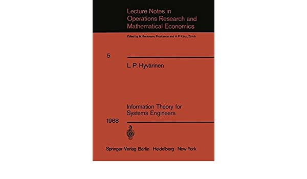 information theory for systems engineers hyvrinen l p