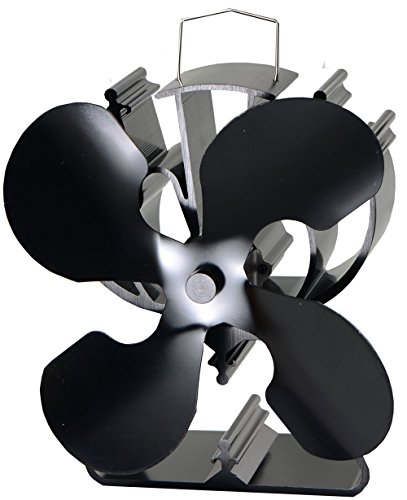 4-Blade Heat Powered Stove Fan for