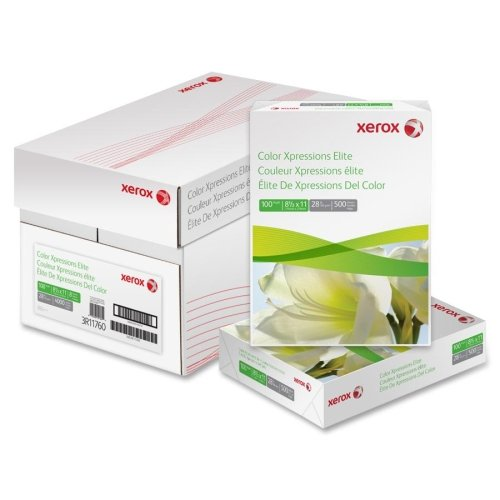 Wholesale CASE of 15 - Xerox Color Xpressions Elite Copy Paper-Copy/Printer Paper,100 GE/114 ISO,60Lb,8-1/2''x11'',250/RM,WE by XER